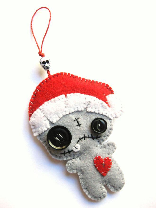 Zombie Christmas Decoration - Natalino Zombie-Decorazione Natalizia o Portachiavi #homedecor