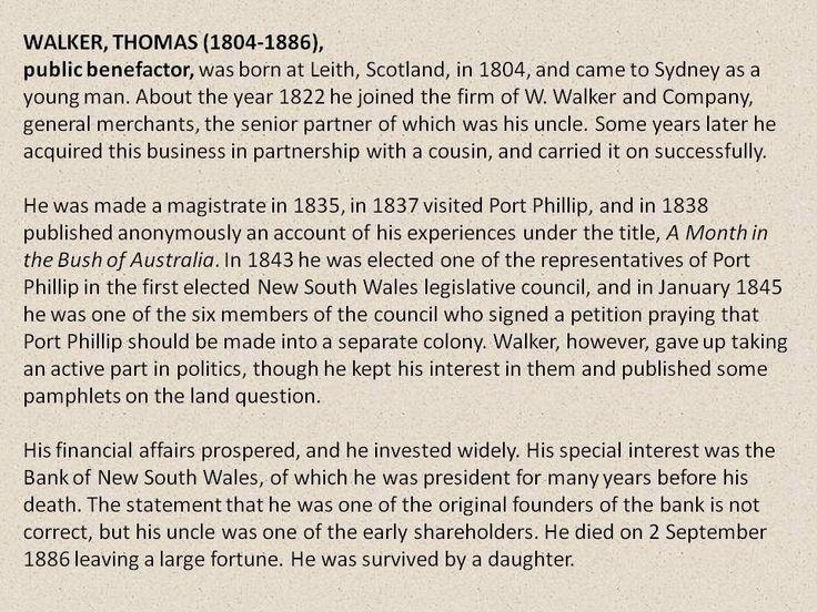 Thomas Walker- a short history