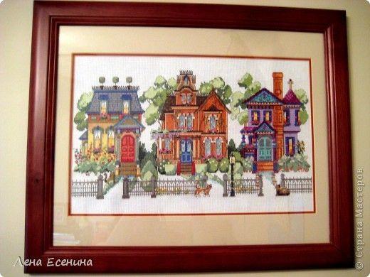 Викторианские дома Америки вышивка крестом, вышивка схемы, вышивка