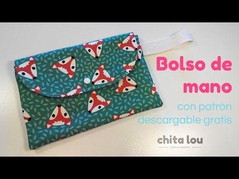 DIY de @chitalou.  Cómo hacer un bolso de mano o clutch con lona de ilatela personalizada por @treehousebcn