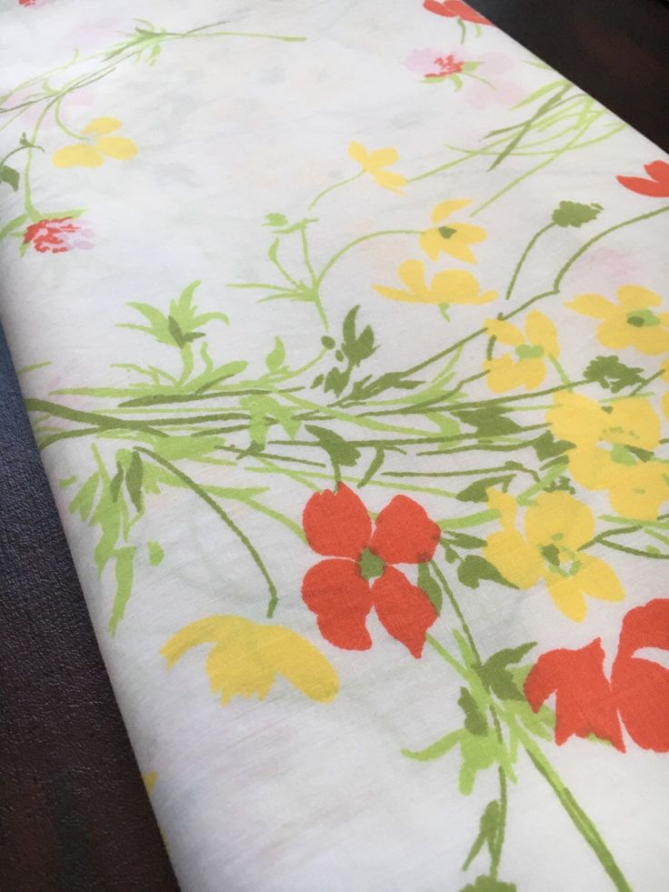 A personal favorite from my Etsy shop https://www.etsy.com/listing/271053637/vintage-twin-flat-sheet-spring-yellow