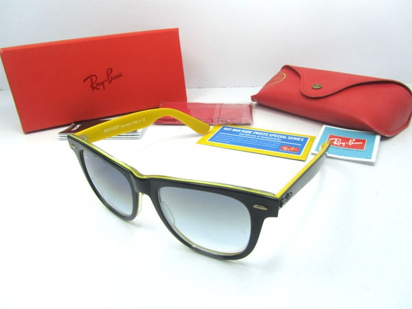 Ray Ban Black And Yellow Sunglasses