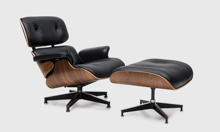 Shop for Eames® Classic Lounge & Ottoman in Walnut and Black Vicenza Leather by Herman Miller online or in store at Living Edge. Shop now.