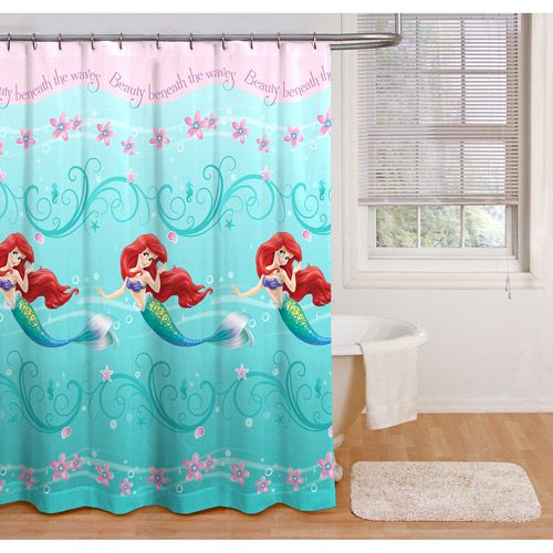 Disney princess ariel little mermaid shower curtain bathroom decor accessories bathroom decor - Little mermaid bathroom ideas ...