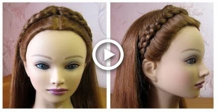 Braided headband hairstyle Quick & Easy  Tresse serre-tte  Coiffure rapide et facile