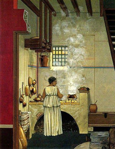 La cucina romana umanit romani for Cucina romana antica