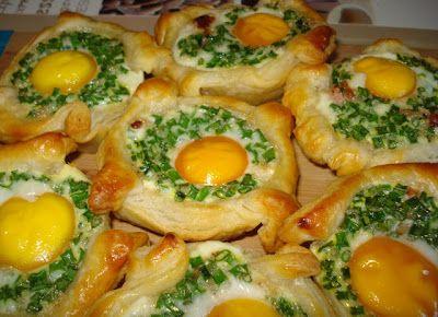 BaBy w kuchni: Jajka zapiekane w cieście francuskim