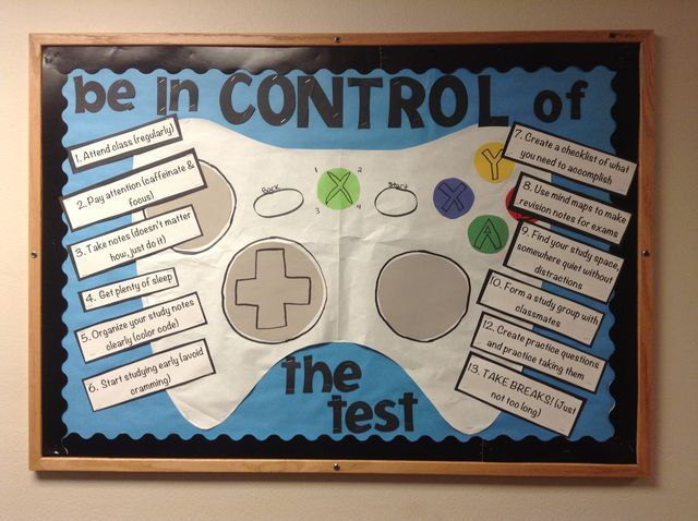 Test Anxiety Bulletin Board