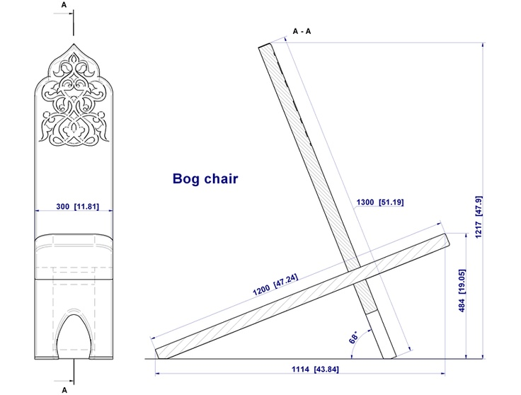 "How to build a ""Bog chair"""