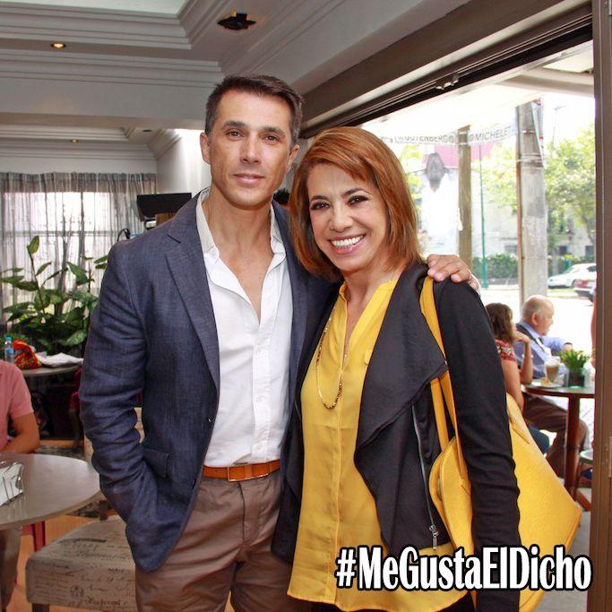 Sergio Mayer y la productora Genoveva Martínez