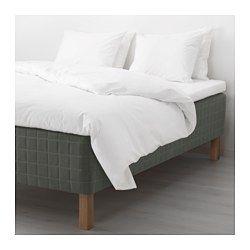 IKEA - SKOTTERUD, Resårbotten, fast/mörkgrå, 90x200 cm, , Du får stöd på rätt ställen med hjälp av individuellt inkapslade pocketresårer som rör sig oberoende av varandra och följer din kropp precist.De 5 komfortzonerna i madrassen ger ett mycket följsamt stöd och minskar trycket på dina axlar och höfter.Ett undre resårlager ger ytterligare ökad komfort.Resårkonstruktionen ger ventilation och ett behagligt sovklimat.Skapa en personlig säng; sängben finns i flera olika stilar och…
