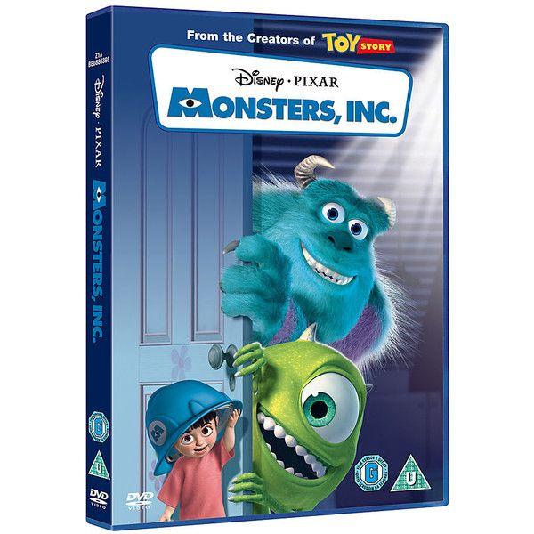 Monsters Inc. DVD ($17) ❤ liked on Polyvore featuring movies, dvd, electronics, extras and filler