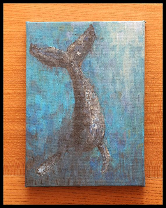My Diving Whale Painting is now up for sale on Etsy!