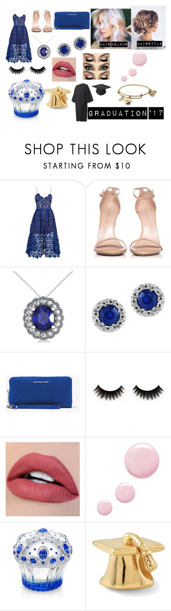 """""""GRADUATION'17"""" by swaggy4life ❤ liked on Polyvore featuring self-portrait, Stuart Weitzman, Allurez, Effy Jewelry, MICHAEL Michael Kors, Topshop, House of Sillage and Alex and Ani"""