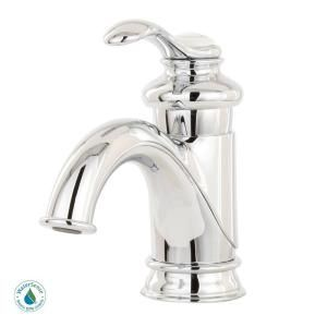 Fairfax Single Hole 1-Handle Low-Arc Bathroom Faucet with Lever Handle in Polished Chrome-K-12182-CP at The Home Depot