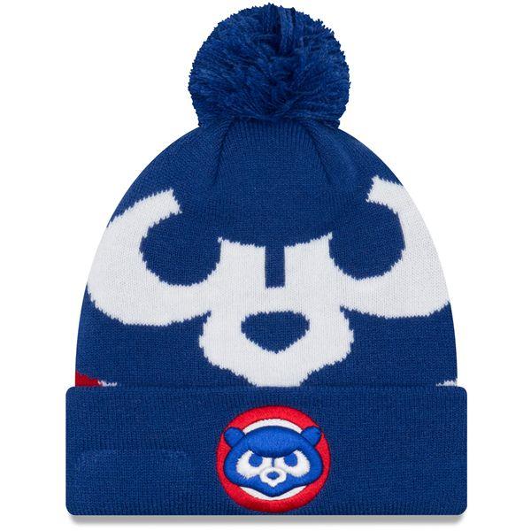 Chicago Cubs 1984 Logo Whiz 3 Pom Knit  #ChicagoCubs #Cubs #FlyTheW #MLB #ThatsCub