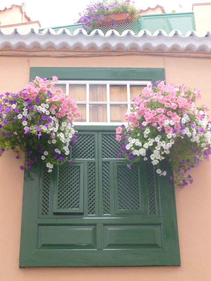 Una ventana en la Isla de La PALMA. Islas Canarias. España¡
