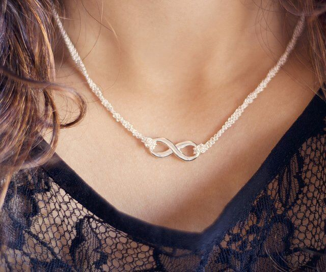 Silver Infinity Necklace Tiffany Amp Co Fashion