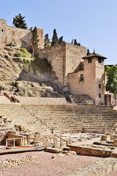 Roman theater of Málaga, Spain, 1st century BC.