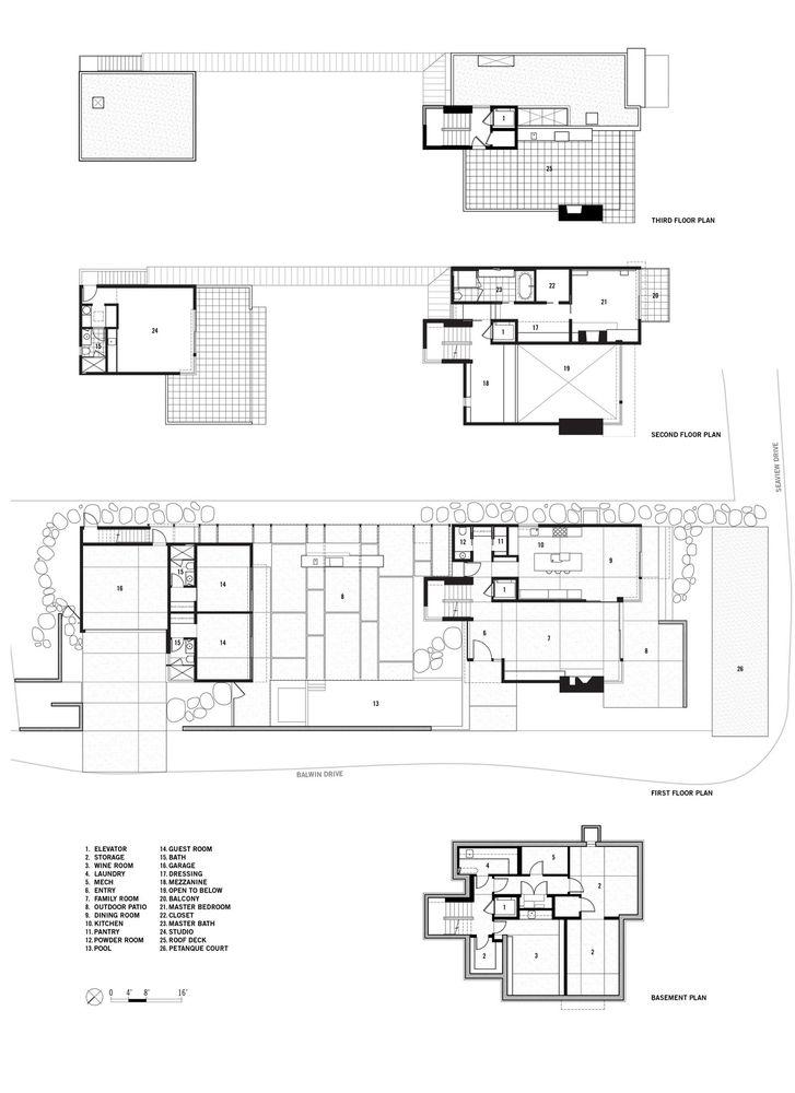 79 best arch plans details images on pinterest arch - Limposante residence contemporaine de ehrlich architects ...