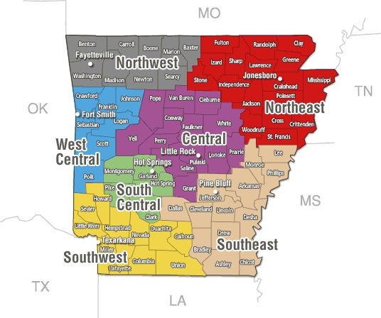 Arkansas Rut Report Map | Arkansas Deer Hunting | Deer rut ...