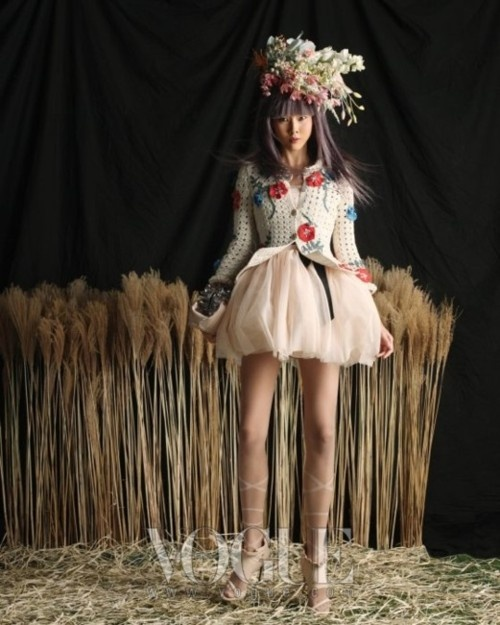 Editorial photo. Rustic couture.