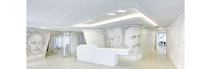 HI-MACS | Raiffeisen Bank | Chur, Switzerland #Architecture #SolidSurface