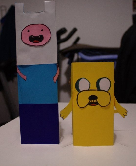 Actividades para peques y papas: Esculturas de papel: Finn y Jake