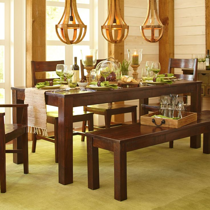 Build Your Own Parsons Tobacco Brown Dining Collection BenchDining Room TablesDining