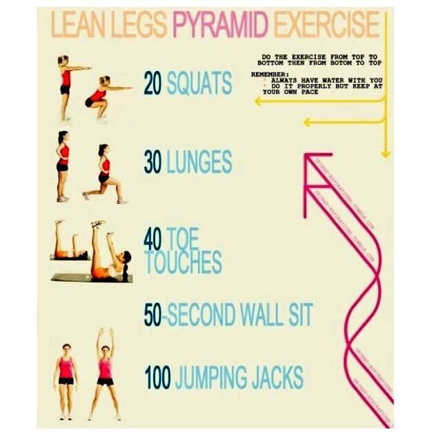 Lean leg pyramid workout | Losing it! | Pinterest