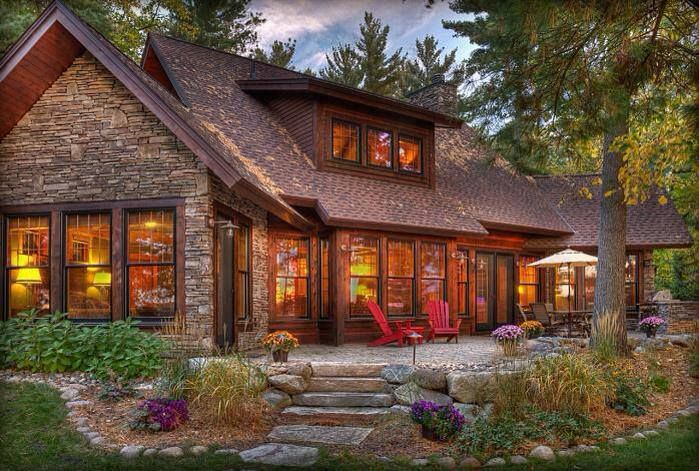Beautiful rustic home.