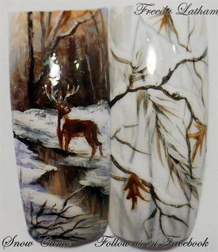 Snow Camo by FreedaLatham - Nail Art Gallery nailartgallery.nailsmag.com by Nails Magazine www.nailsmag.com #nailart
