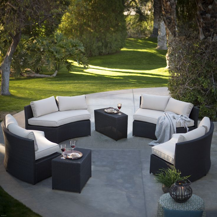 Best Best Of Circular Patio Furniture , Belham Living Meridian Round Outdoor  Wicker Patio Furniture Set