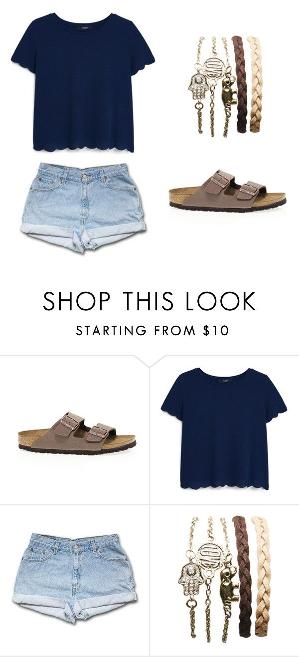 """Outfit Idea by Polyvore Remix"" by polyvore-remix ❤ liked on Polyvore featuring Birkenstock, MANGO and Wet Seal"