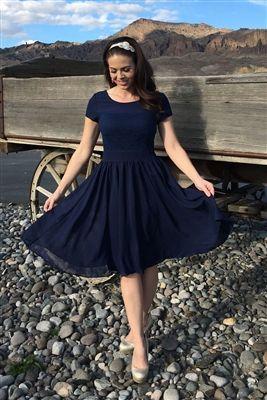 Navy Isabel Modest Dress by Mikarose, Vintage Dress, Church Dresses, dresses for church, modest bridesmaids dresses, trendy modest, modest office clothing, affordable boutique dresses, cute modest dresses, mikarose, trendy boutique, pink dress