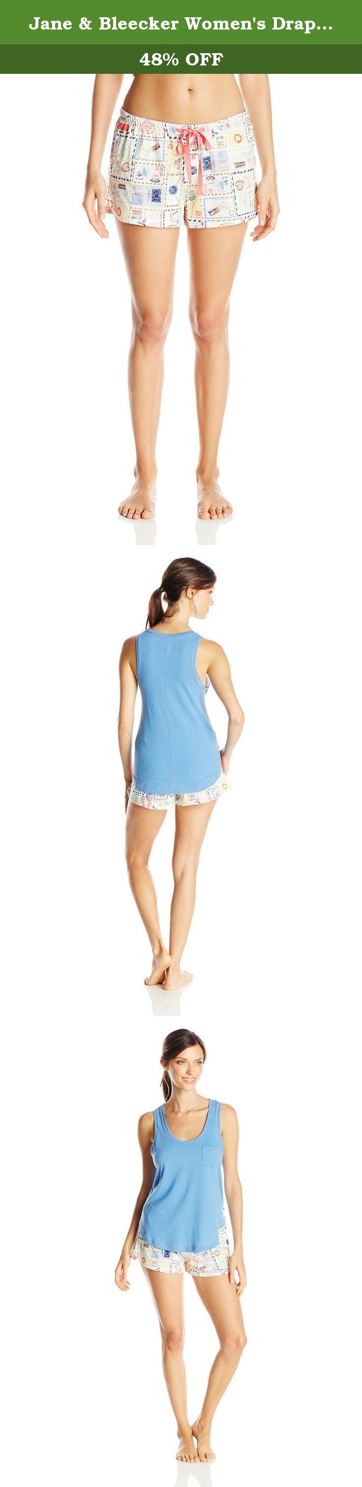 Jane & Bleecker Women's Drapey Jersey Tank and Super Soft Jersey Short Set, Love Letters, Medium. Beyond comfortable and ultra-soft, the Jane and bleecker drapey jersey tank and super soft jersey short set has a relaxed silhouette and was made for laid-back everyday style.