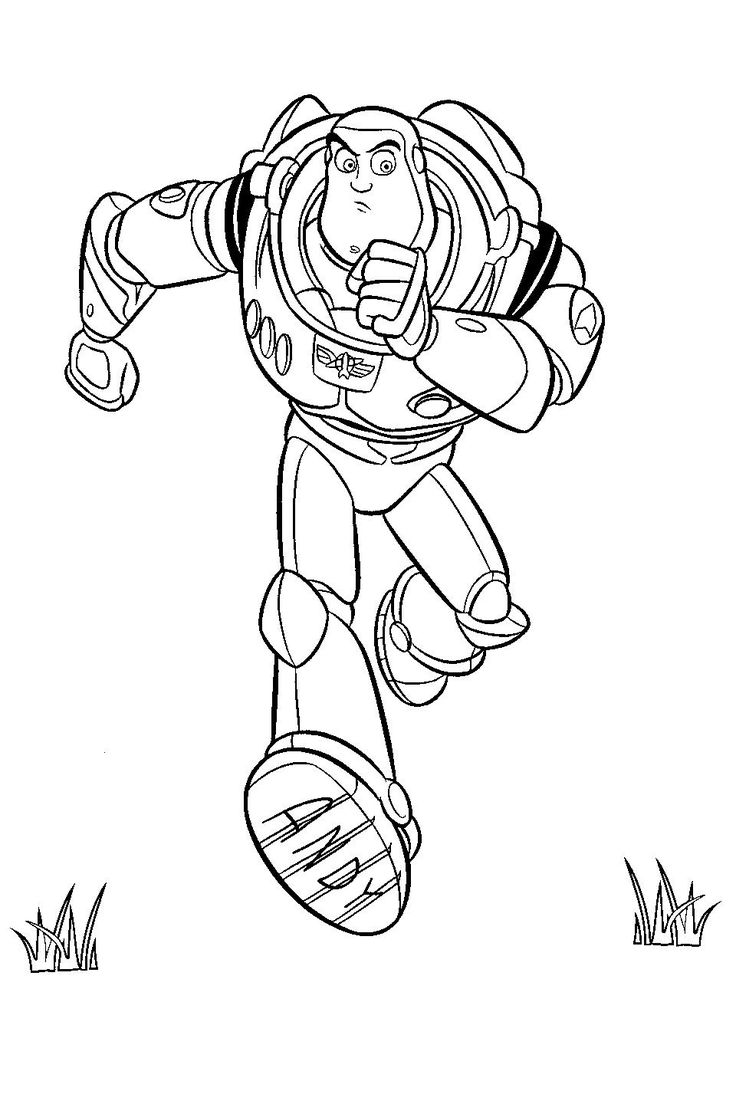 buzz lightyear from toy story coloring page
