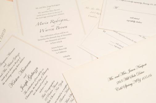 Basic Wording for Wedding Invitations