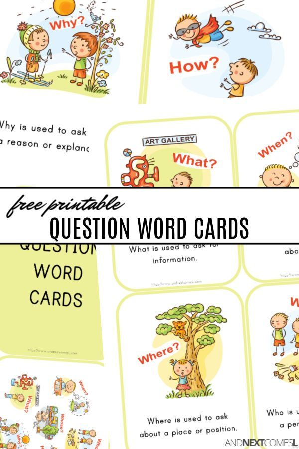 Free Printable Wh Question Word Cards Wh Questions Word Cards Wh Questions Activities Wh questions for preschoolers worksheets
