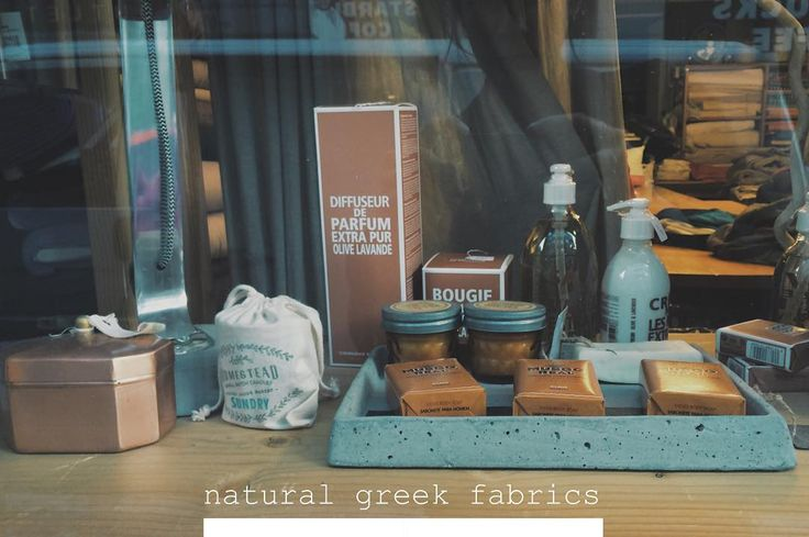 Gift ideas | Soaps & Candles #naturalgreekfabrics #natural #fabrics #home #decor #athens #greece #gifts #concrete