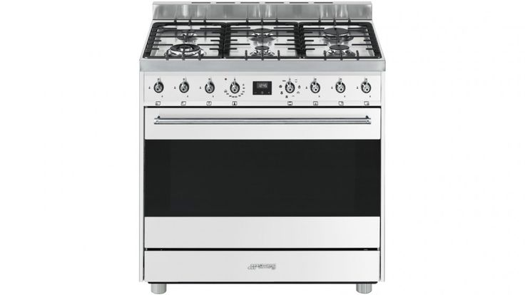 Smeg 90cm Freestanding Cooker with Electronic Touch Clock - White $3290