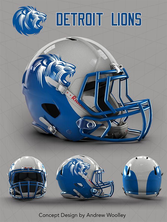 NFL: Detroit Lions concept  Revo speed helmet template available @ http://fieldtheory.co.uk/HELMET-TEMPLATES