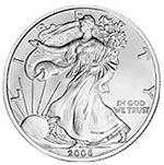 The American Silver Eagle is the official silver bullion coin of the United States, first released by the United States Mint on November 24, 1986. American Eagle Silver bullion coins are affordable investments and legal tender with a nominal face value of one dollar. Above all, they're the only silver bullion coins whose 1 troy oz. weight and 99.9% pure silver purity are guaranteed by the United States Government. They're also the only silver coins allowed in an IRA.