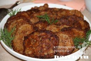 Оладьи из печени с тыквой, vtorye blyuda blyuda iz myasnyx subproduktov