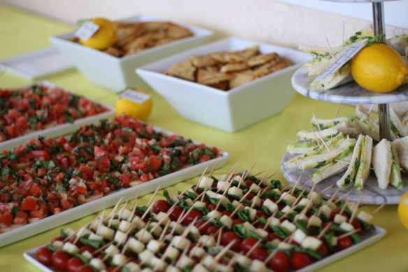 Bridal Shower Food Table Close Appetizers