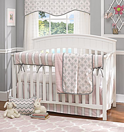Picture of Bella Pink Baby Girl 4-pc. Baby Bedding Set with Rail Cover