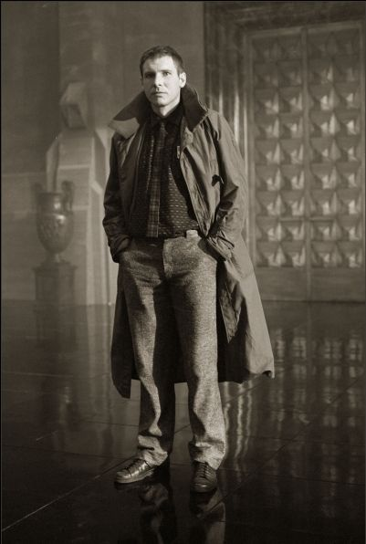 Harrison Ford as Rick Deckard in Blade Runner, 1981. Photo by Stephen Vaughan.