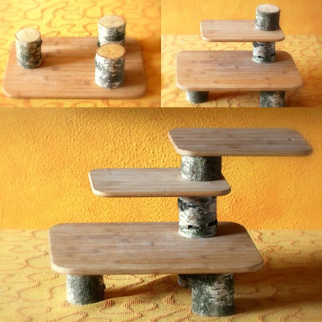 Daily Colours : DIY - Seasonal Nature Table made of Repurposed Cutting Boards
