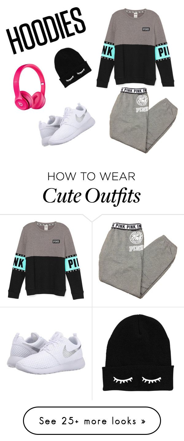"""""""Casual Outfit! For the people who can't be bothered to make an effort in their outfit its causal, simple  but cute at the same time"""" by izzfizz1 on Polyvore featuring Apple, Victoria's Secret, NIKE, women's clothing, women's fashion, women, female, woman, misses and juniors"""