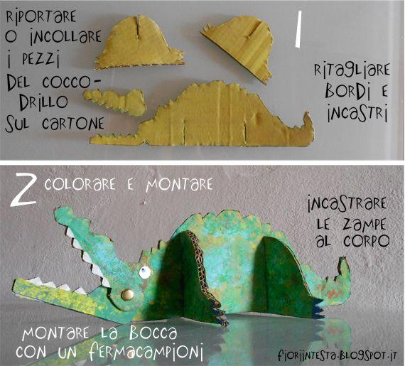 paper crocodile tutorial